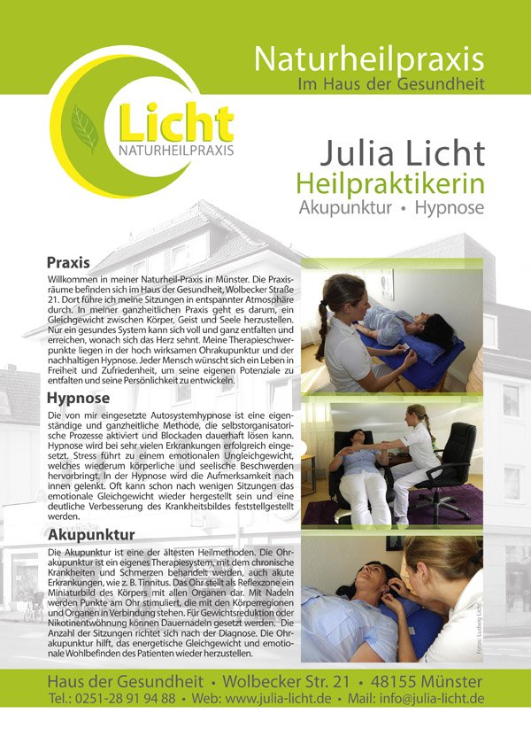 Philosophie der Heilpraktikerin Julia Licht in Muenster