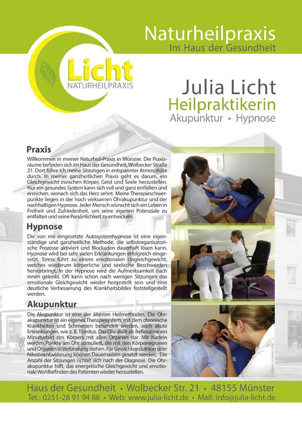 Philosophie der Heilpraktikerin Julia Licht in Muenster