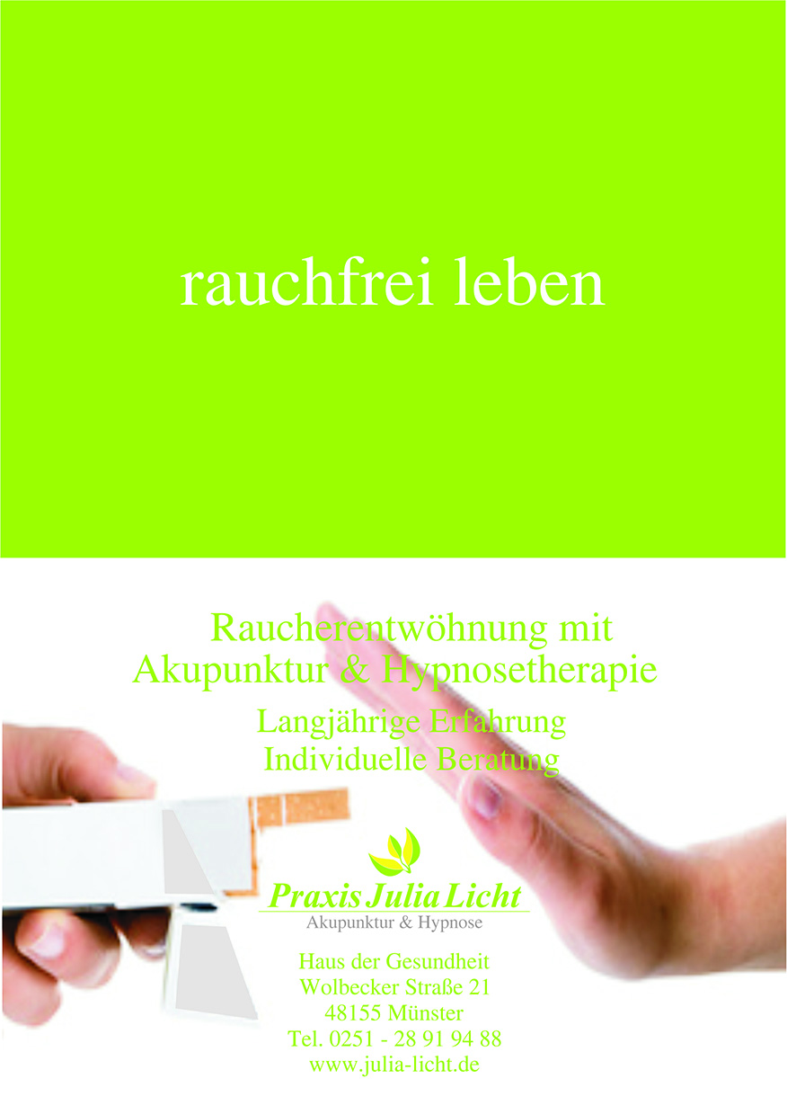 Flyer Praxis Julia Licht Münster